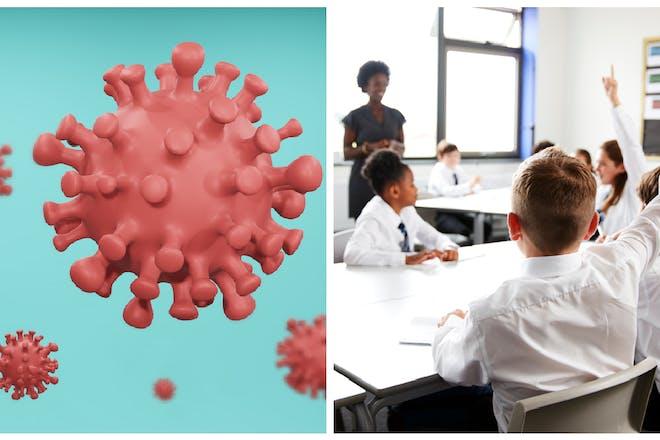 Coronavirus / school classroom
