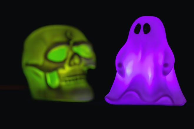 Glow in the dark Halloween skeleton and ghost toys