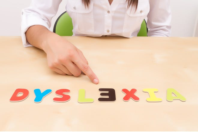 Letters spelling out dyslexia