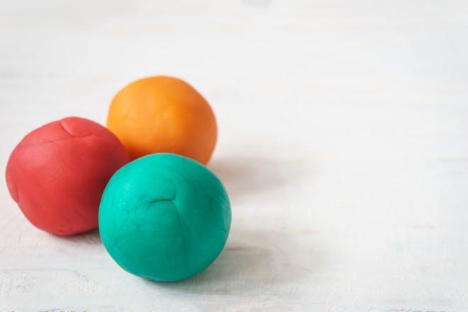 play dough balls