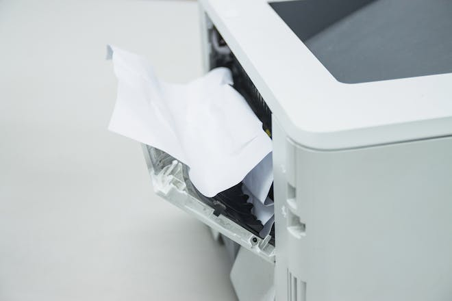 Paper jammed in the printer
