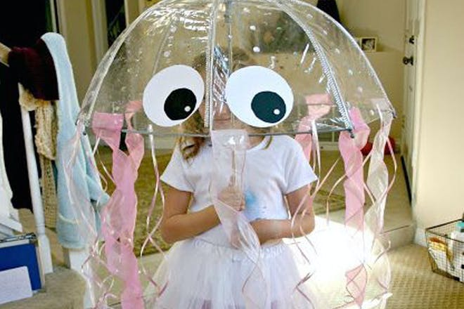 Girl dressed as a jellyfish
