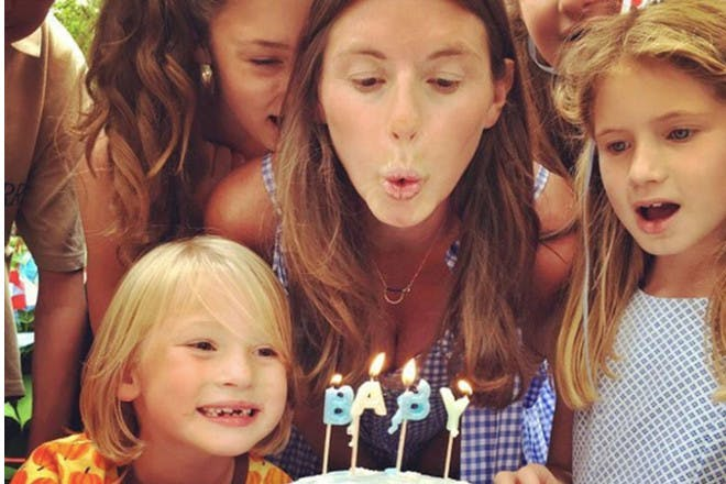 Jools Oliver and kids