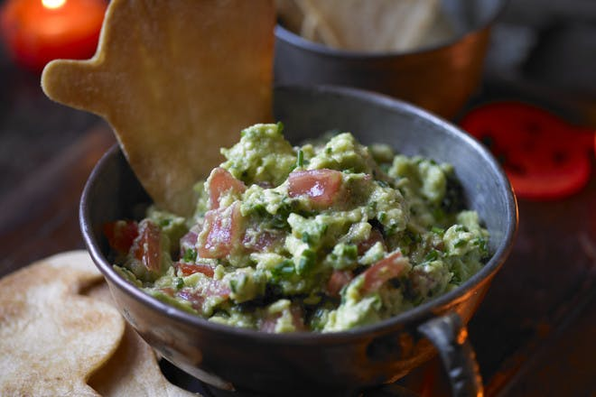 Guacamole with crispy ghosts
