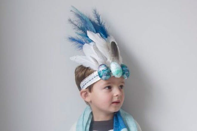 eggs and feathers easter bonnet
