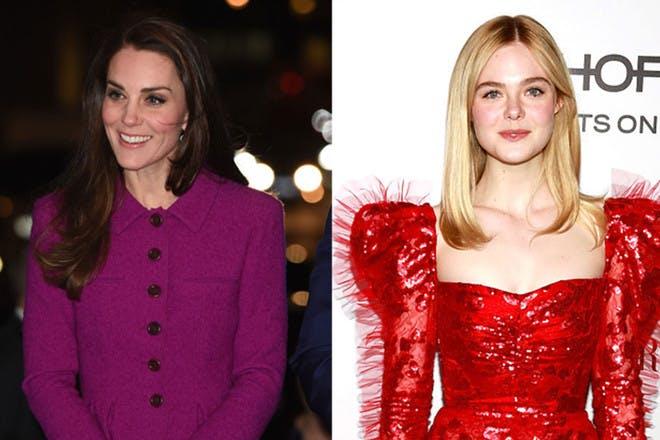 26. Kate Middleton and Elle Fanning
