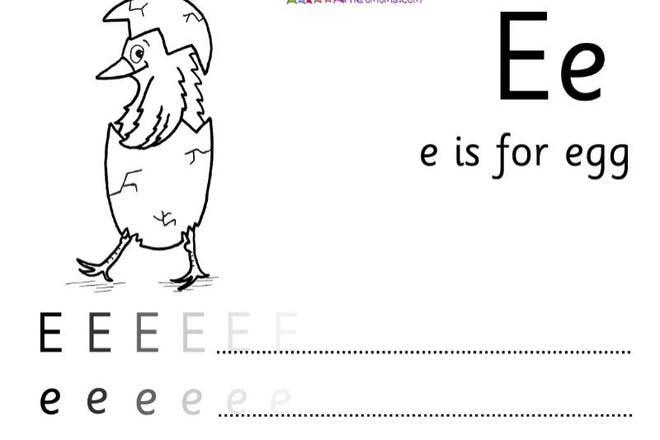 e is for egg