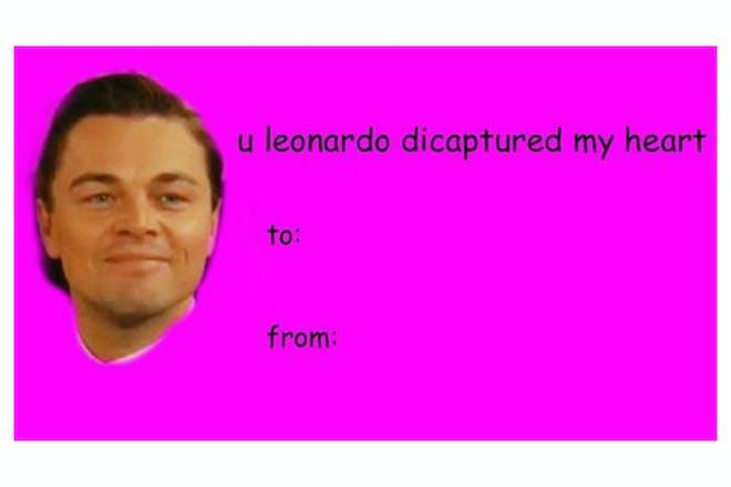 Valentine's Day card memes - Leonardo DiCaprio