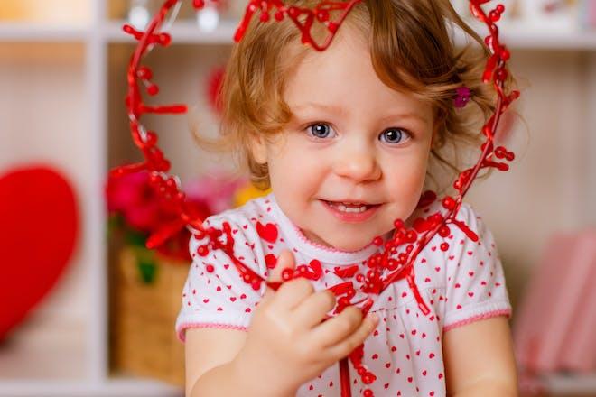 Child with heart Valentine's day