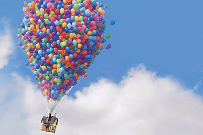 up house and balloons