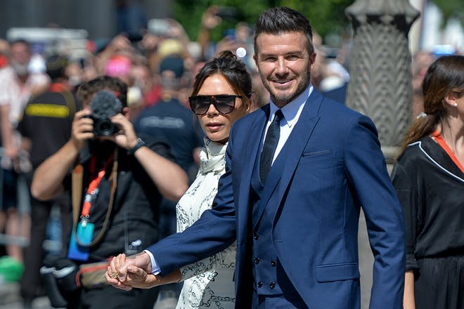 David and Victoria Beckham Sergio Ramos wedding