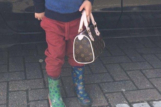 boy wearing different welleis
