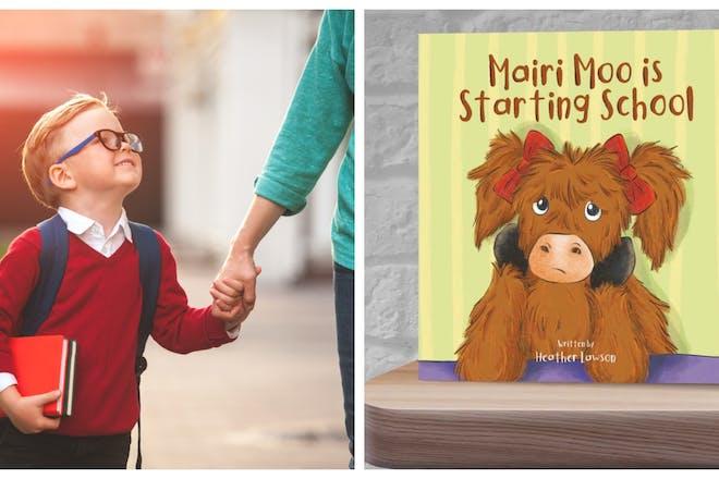 child starting school / mairie moo book