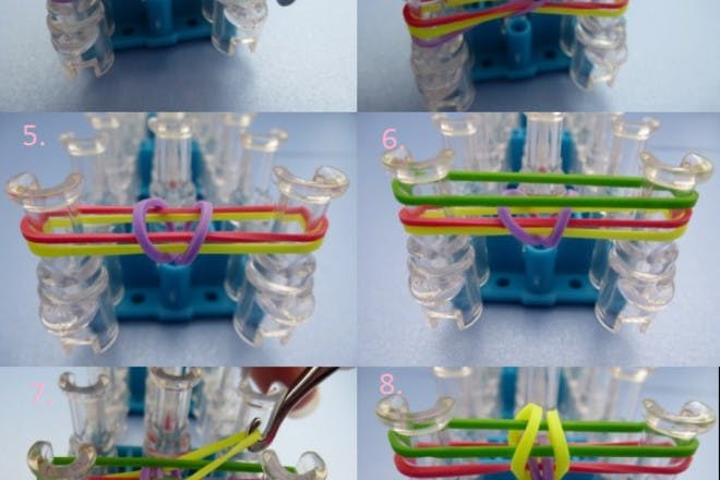 how to make rainbow loom fishtail bands