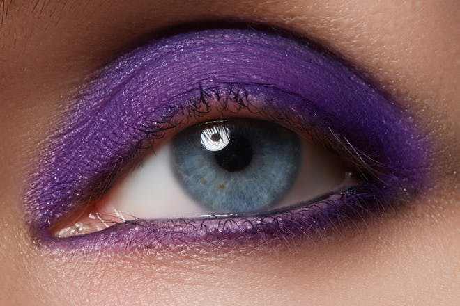 14. Slathered brightly coloured eyeshadow over and under your eyes