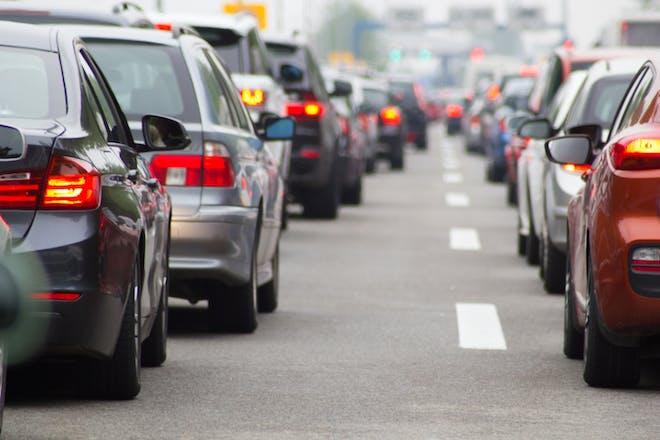 Nostalgic holidays traffic jam