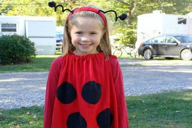 Girl dressed as a ladybird