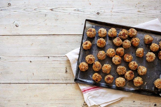 Apricot and pecan stuffing balls. Vegetarian stuffing balls.