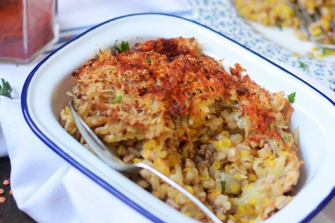 11. Baked lentil risotto