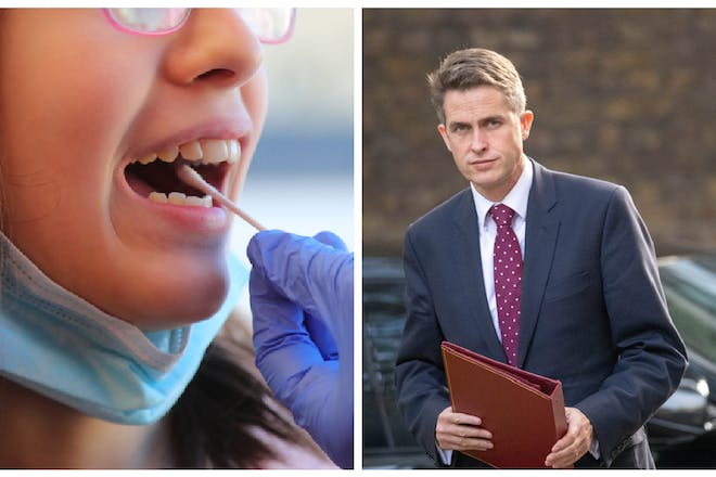 School pupil gets tested for Covid / Gavin Williamson