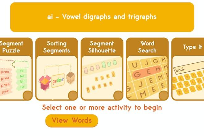 Spellingframe screenshot
