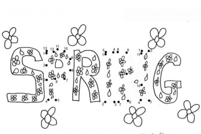 26. Spring dot-to-dot