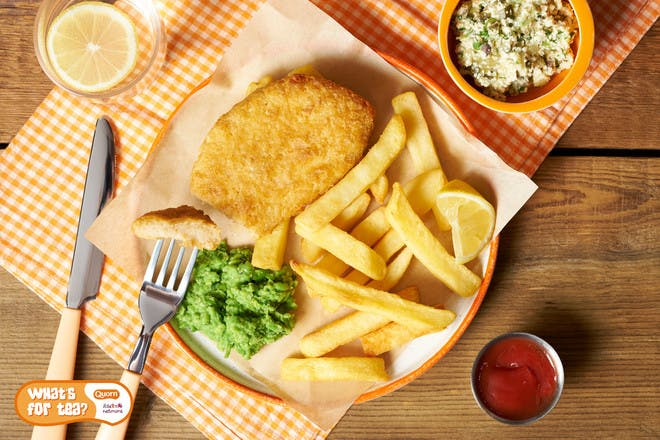 Quorn fish and chips