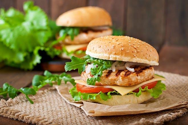 17. Mediterranean chicken burgers