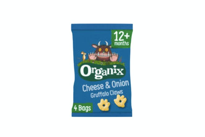Organix Cheese & Onion Gruffalo Claws Toddler Snack Puffs Multipack