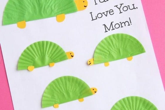 Mother's Day card with turtles