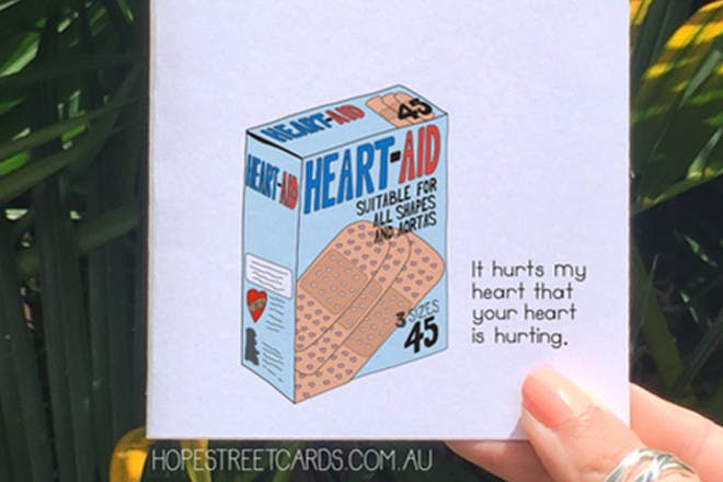 anxiety plasters card