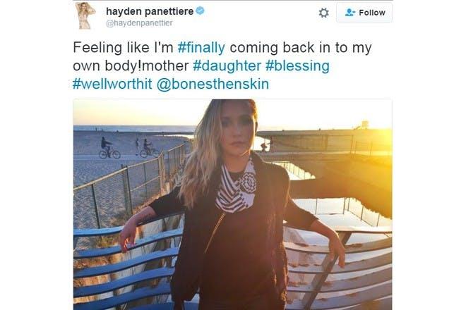 hayden panettiere tweet postpartum depression