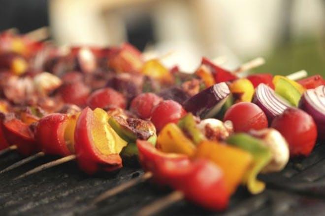 BBQ veggie kebab