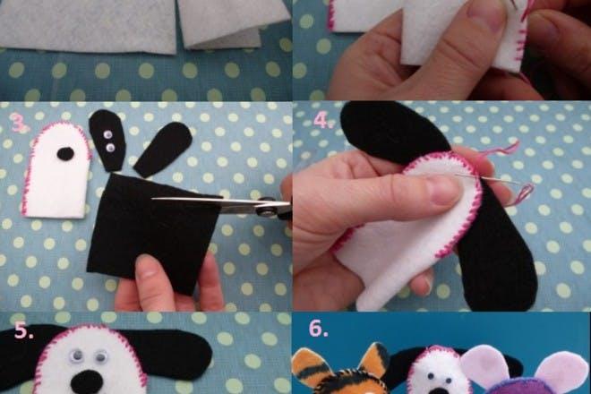 how to make finger felt puppets