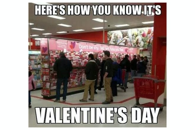 Valentine's Day memes - last minute shoppers