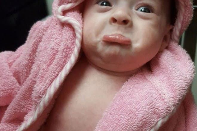 Baby after bath
