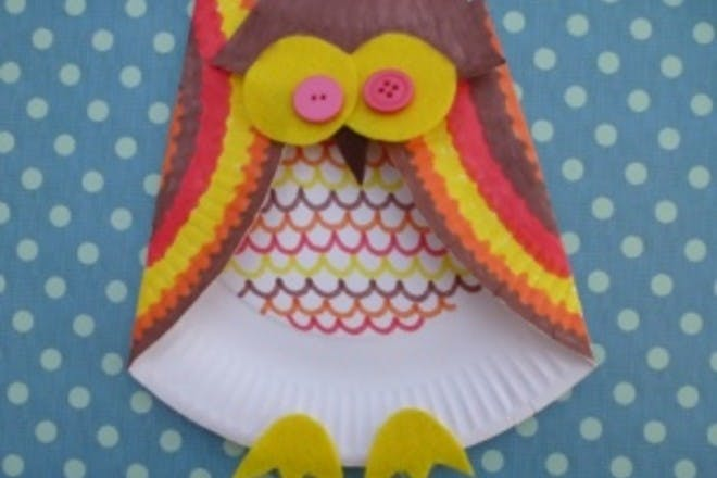 How to make a paper plate owl