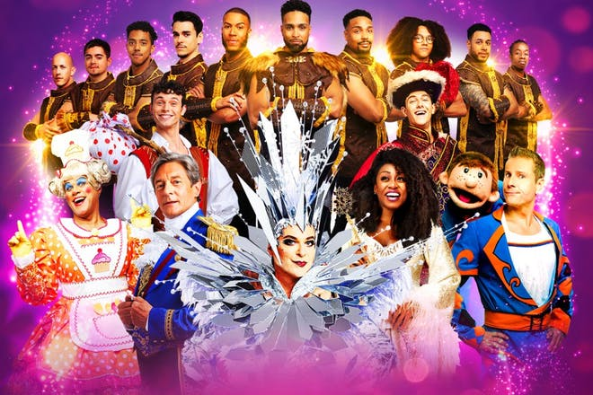 The star-studded Pantoland comes to the London Palladium