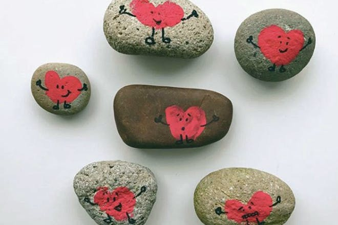 18. Painted stones