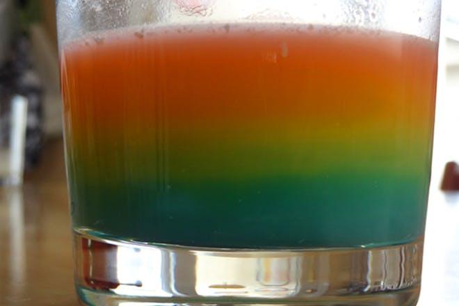 Skittles density rainbow