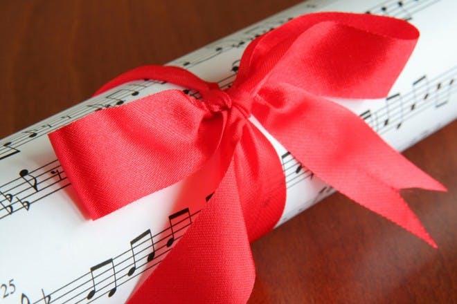 sheet music wrapping