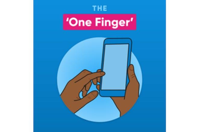 One finger