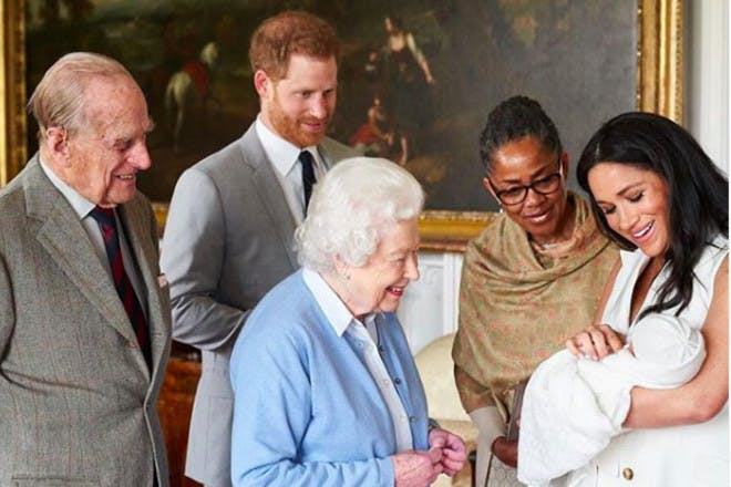 Archie visiting the Queen