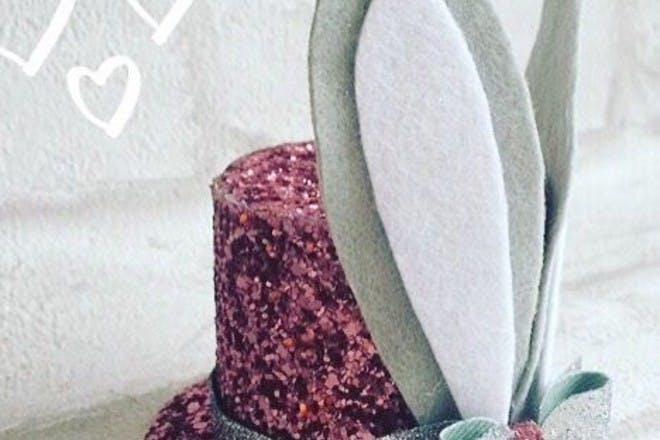 Glitter Easter bonnet