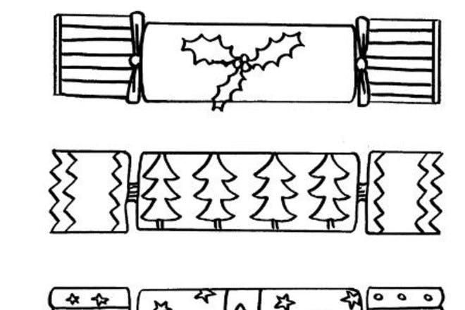 christmas cracker colouring