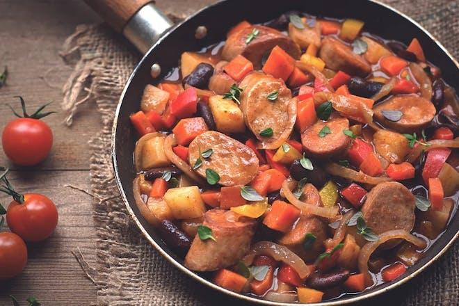 Quorn sausage one pot