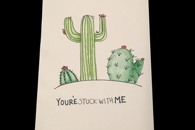 cactus Valentine's card