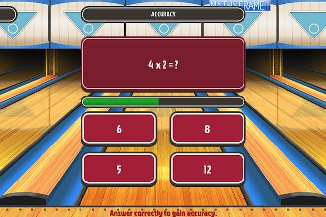 Super maths bowling maths game