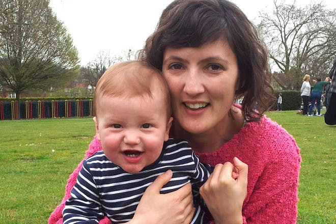 Matilda Tristra and son