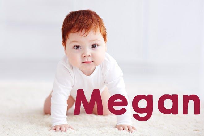 Ginger baby crawling